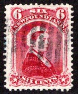 38b, NSSC, Newfoundland, Used, 6c, 1894, Queen Victoria, Scott 36