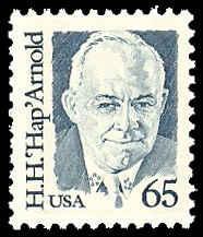PCBstamps    US #2191 65c Gen. HapH. Arnold, 1988, MNH, (6)