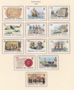 Tristan Da Cunha # 333-342, Island History, NH, 1/2 Cat.