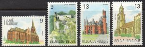 Belgium MNH 1317-20 Historic Buildings 1989
