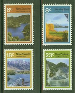 New Zealand Scott 507-510 MH* Lake set 1972 CV$10