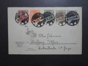 Germany 1921 Germania 3pf + 2pf Duplex Uprated Postal Card - Z10173