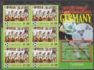 2006 Grenada 5736KL 2006 FIFA World Cup Germany( Tunisia ) 9,00 €