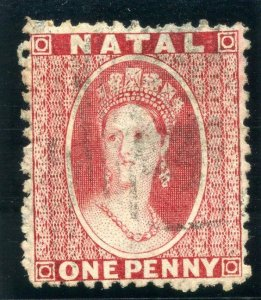 Natal 1864 QV 1d bright-red very fine used. SG 22. Sc 15.