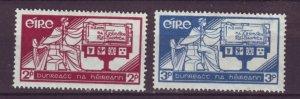 J20724 Jlstamps 1937 ireland set mh #99-100 allegory