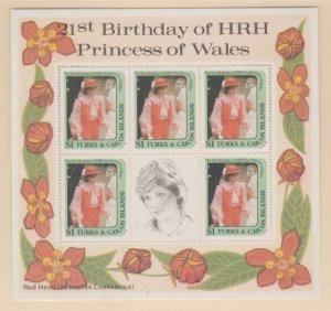 Turks & Caicos Scott #533 Stamps - Mint NH Souvenir Sheet