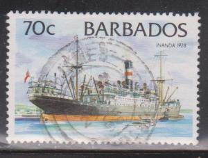 BARBADOS Scott # 880 Used - Old Ship Inanda