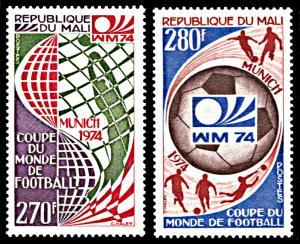 Mali 434-435, MNH, World Cup Football Championship 1974, West Germany