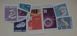 ALBANIA SPACE 10 DIFF. STAMPS UNLISTED   MINT NH
