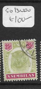 MALAYA  NEGRI SEMBILAN   (PP1105B) 25C TIGER SG  13    VFU