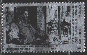 Mexico. 1988. 2094. Posada, artist. USED.