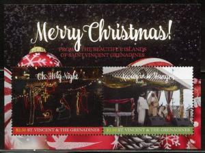 ST. VINCENT  GRENADINES 2017 CHRISTMAS  SOUVENIR SHEET MINT NH