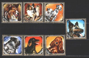 Mongolia. 1984. 1675-81. Dogs. USED.