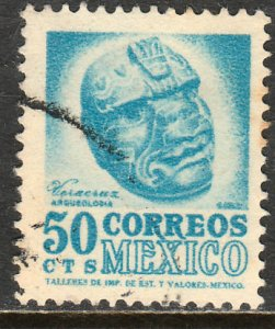 MEXICO 863, 50c 1950 Definitive wmk 279 Used F-VF. (368)