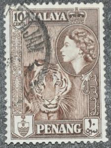 DYNAMITE Stamps: Malaya Penang Scott #50 – USED