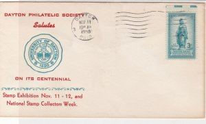 U. S. 1950 Dayton Phil. Society Salutes Uni On Cent Illust Stamp Cover Ref 37565