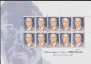 Fr. Polynesia Pouvanaa Politician 'spiritual father' Commemoration Full Sheet