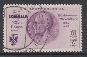 ITALY - SOMALIA  Roma-Mogadiscio Crusade 10 Lire Sassone A15  cv 190$ used