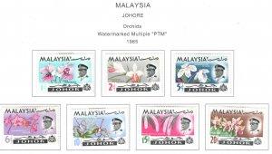 MALAYSIA Johor Scott 169-175 MH* Orchid set