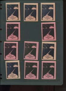 VINTAGE LOT OF 11 1931 MAGIC Poster Stamps SOCIETY OF AMERICAN (L1116)