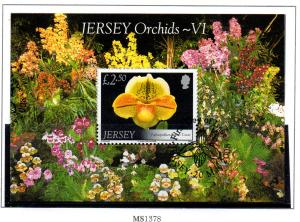 Jersey Sc 1325 2008 £2.5 Orchids stamp sheet used