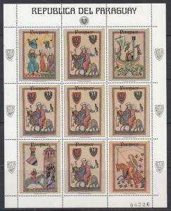 Paraguay Scott 2117 Mint NH mini-sheet (Catalog Value $15.00)