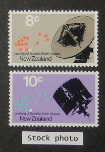 New Zealand 478-79. 1971 Satellite Earth Station, NH