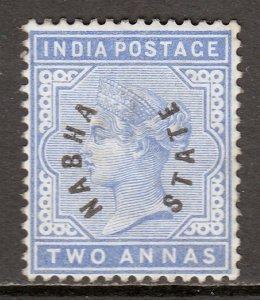 India (Nabha) - Scott #3 - MH - Thin - SCV $37.50