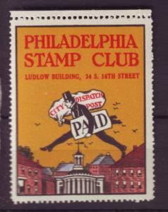 J18505 JLstamps cinderella-poster stamp philadelphia stamp club mnh