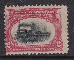 USA ^^^^^^1901   sc# 295   mint hinged CLASSIC( LOCOMOTIVE) $ 15.50  @ dca 62us2