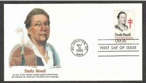 US # 1823 Emily Bissell Fleetwood FDC - I Combine S/H