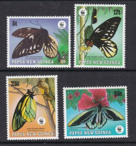 PAPUA NEW GUINEA ^^^^^# 697-700 MNH set ( BUTTERFLIES) $$@  lar 1711papxx