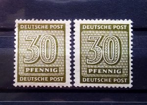 Germany West Sachsen 135Y a+b mnh