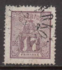 Sweden #14 Very Fine Used