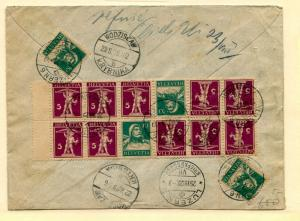 Switzerland Reg. cover to Poland with block 160a