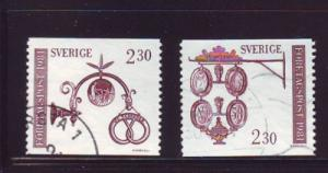 Sweden Sc1384-5 1981 Trade signs stamps used