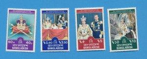 BANGLADESH - scott 145-148 - VFMNH -  QEII Silver Anniversary - 1978