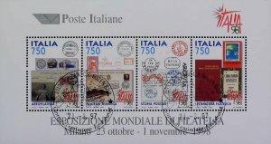1997 Esposizione di Filatelia Foglietto Usato Annullo FDC Used Sheet 14811
