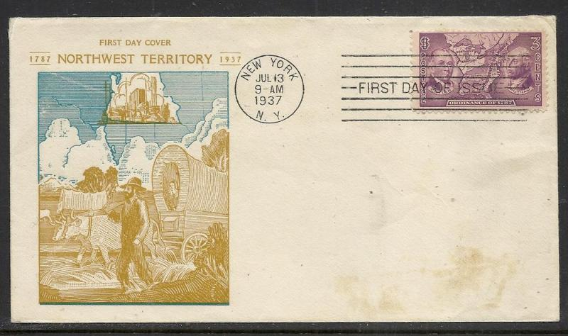 US #795-11 NW Territory Theron Fox cachet addressed
