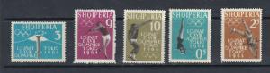 ALBANIA - 1962 TOKYO OLYMPIC GAMES - SCOTT 616 TO 620 - MNH