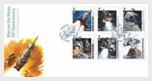 2019   JERSEY  -  MOON LANDING 50TH ANNIVERSARY  -  SET ON FIRST DAY COVER