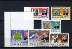 Honduras 1980 Sc#C688/693 Stamp on Stamp/Sir Rowland Hill Set (6) MNH