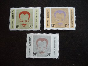 Stamps- Cuba- Scott# C219-C221 -Mint Hinged Set of 3 Stamps - English Background