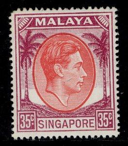 SINGAPORE GVI SG25a, 35c scarlet & purple, M MINT. Cat £12.