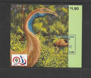 BIRDS - NEW ZEALAND #1398b  TAIPEI S/S   MNH