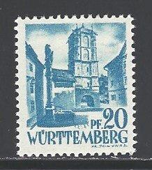 Germany Wurttemberg Sc # 8N7 mint hinged (RRS)