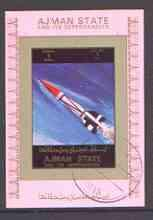 Ajman 1972 History of Space individual imperf sheetlet #0...