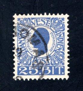 Danish West Indies #34,  VF,  Used,   CV $10.50 ....1630033