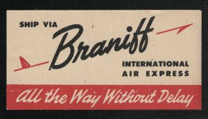 Braniff International Air Express-All The Way Without Delay-Poster Stamp-Rare