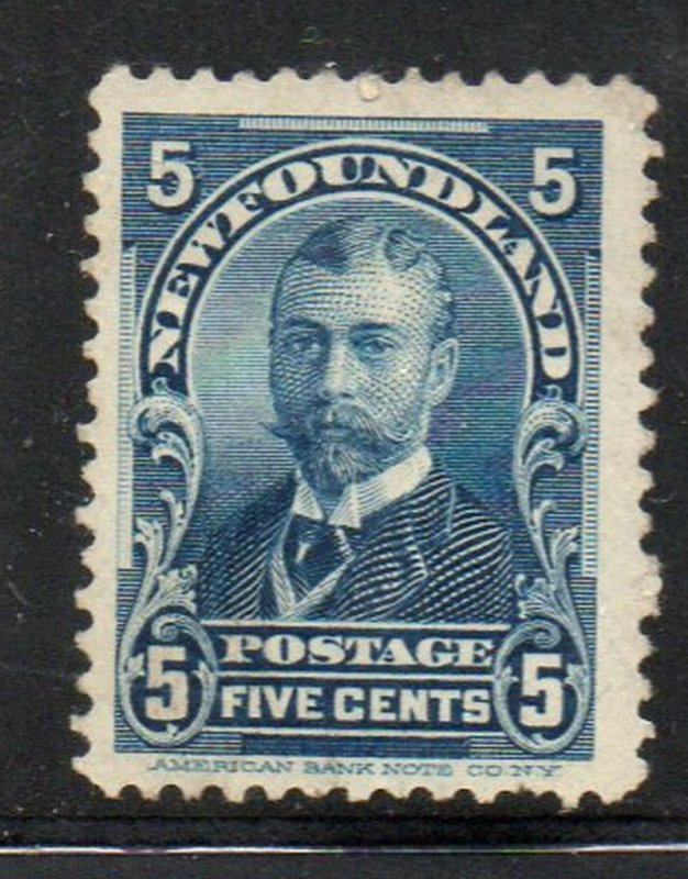 Newfoundland Sc 85 1899 5c Duke of York stamp mint